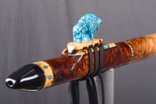 Tasmanian Blackwood Burl Native American Flute, Minor, Low E - 4, #4L4L