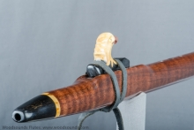 Curly Walnut Native American Flute, Minor, Mid F# - 4, #J16J