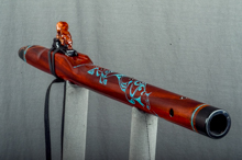 Padauk Native American Flute, Minor, Mid G - 4, #K11K (7)