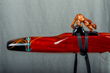 Padauk Native American Flute, Minor, Mid G - 4, #K11K (8)