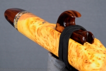 Yellow Cedar Burl Native American Flute, Minor, Mid B - 4, #K18K (5)