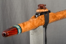 Brown Mallee Burl Native American Flute, Minor, High E - 5, #L14F (0)