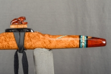 Brown Mallee Burl Native American Flute, Minor, High E - 5, #L14F (13)