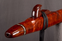 Redwood Burl Native American Flute, Minor, Low D - 4, #L30F (0)