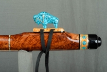 Red Mallee Burl Native American Flute, Minor, Low E - 4, #L56E (10)