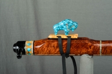 Red Mallee Burl Native American Flute, Minor, Low E - 4, #L56E (8)