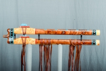 Yellow Cedar Burl Native American Flute, Minor, Low E - 4, #M5Ha (12)