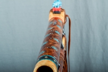 Yellow Cedar Burl Native American Flute, Minor, Low E - 4, #M5Ha (8)