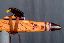 Cherry Burl Native American Flute, Minor, Mid G - 4, #N10H (12)