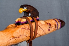 Cherry Burl Native American Flute, Minor, Mid G - 4, #N10H (4)