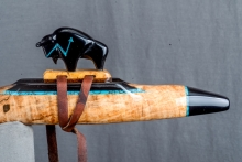 Spalted Maple Burl Native American Flute, Minor, Mid G - 4, #N13I (11)