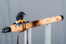 Spalted Maple Burl Native American Flute, Minor, Mid G - 4, #N13I (1)