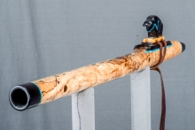 Spalted Maple Burl Native American Flute, Minor, Mid G - 4, #N13I (5)