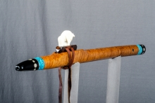 Brown Mallee Burl Native American Flute, Minor, Mid A - 4, #N21J (1)