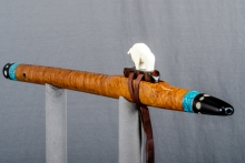 Brown Mallee Burl Native American Flute, Minor, Mid A - 4, #N21J (2)