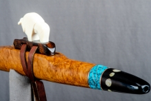 Brown Mallee Burl Native American Flute, Minor, Mid A - 4, #N21J (3)