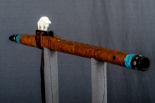Brown Mallee Burl Native American Flute, Minor, Mid A - 4, #N21J (7)