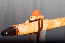 Yellow Cedar Burl Native American Flute, Minor, Mid A - 4, #N25A (0)