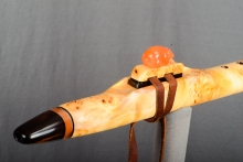 Yellow Cedar Burl Native American Flute, Minor, Mid A - 4, #N25A (16)