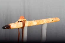 Yellow Cedar Burl Native American Flute, Minor, Mid A - 4, #N25A (1)