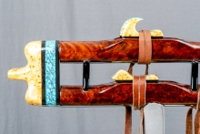 Redwood Burl Native American Flute, Minor, Mid A - 4, #N3Ka (11)