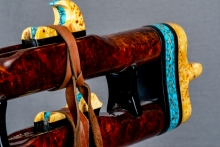 Redwood Burl Native American Flute, Minor, Mid A - 4, #N3Ka (4)