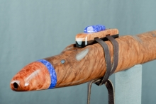 Brown Mallee Burl Native American Flute, Minor, Low F - 4, #N9E
