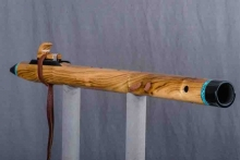 Black Locust Wood Native American Flute, Minor, Low D-3, #O24C (6)